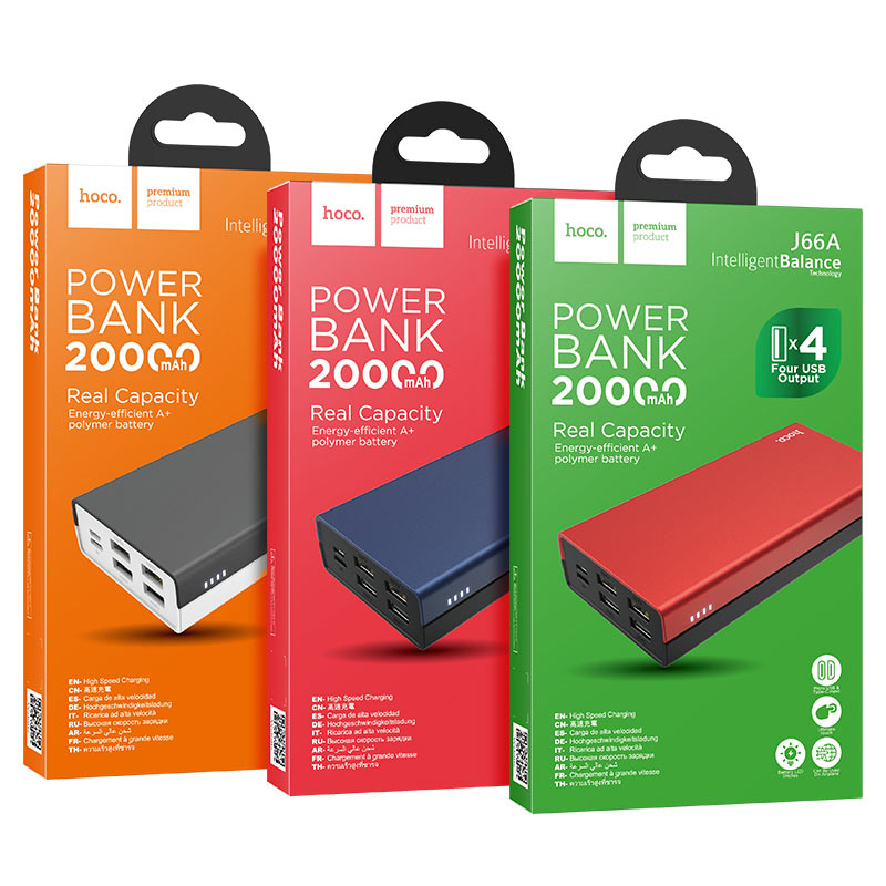 hoco j66a fountain power bank 20000mah packages