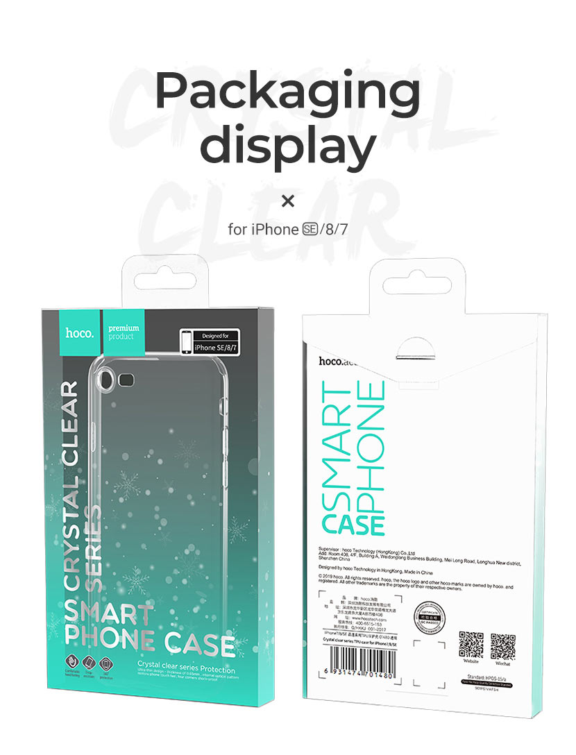hoco news new iphone se protective cases crystal clear series package en