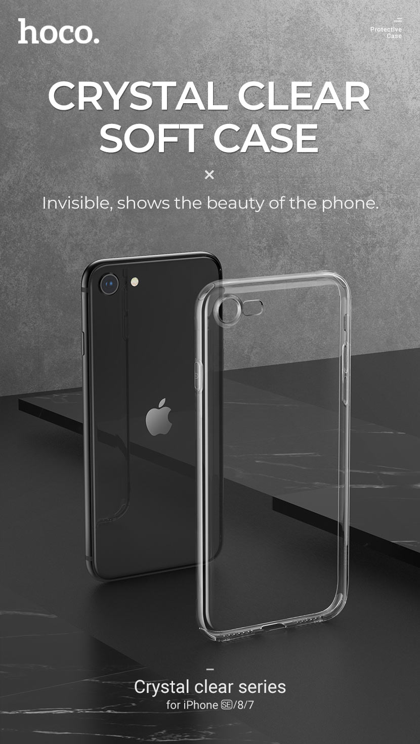 hoco news new iphone se protective cases crystal clear series soft en
