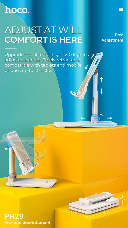 hoco news ph29 matey tablet folding desktop stand adjust en