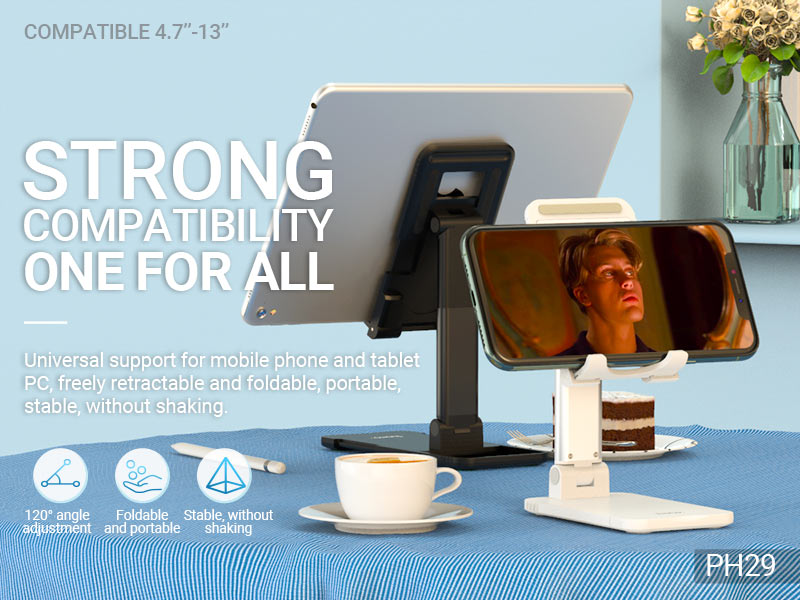 hoco news ph29 matey tablet folding desktop stand banner en