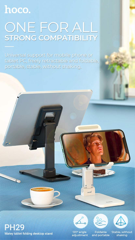 hoco news ph29 matey tablet folding desktop stand compatibility en