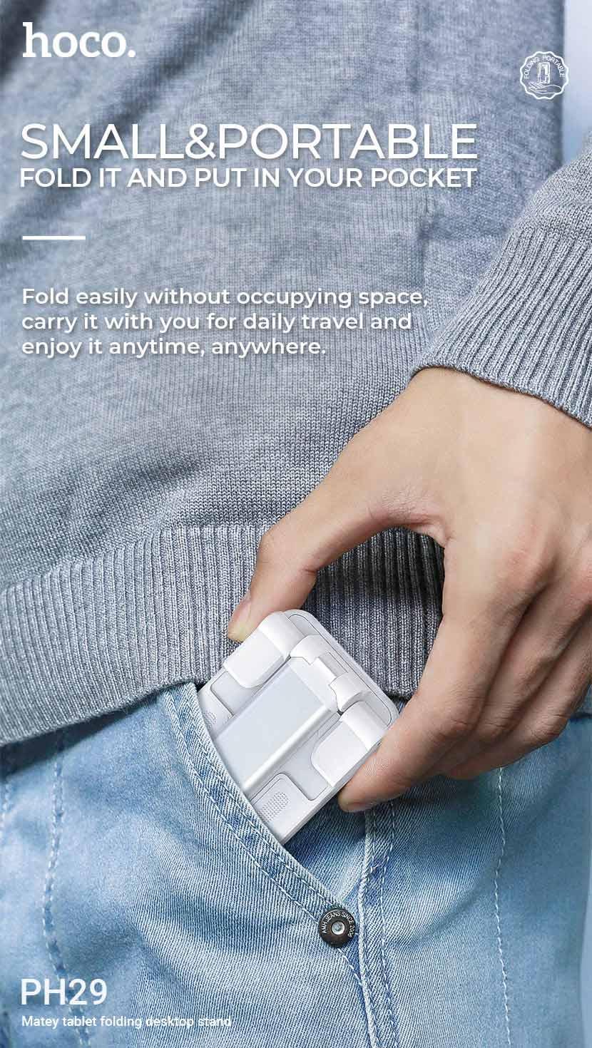hoco news ph29 matey tablet folding desktop stand portable en