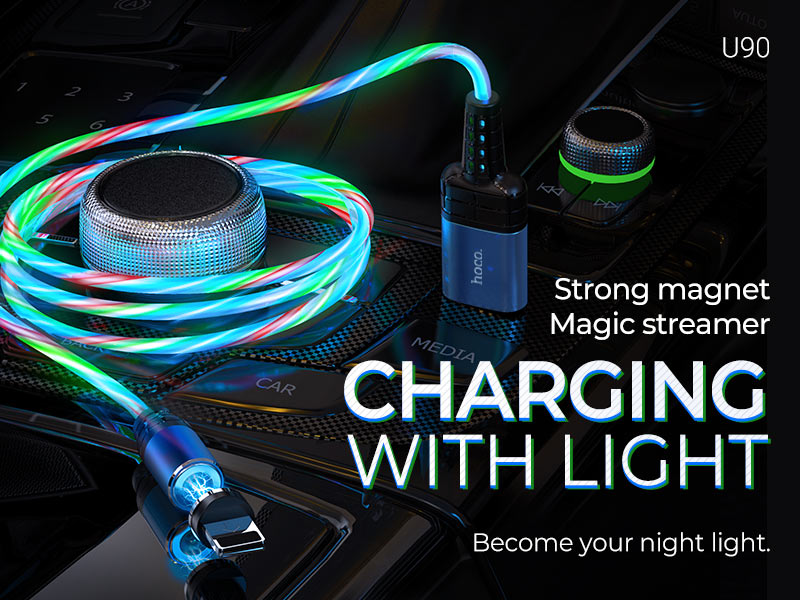 hoco news u90 ingenious streamer charging cable banner en