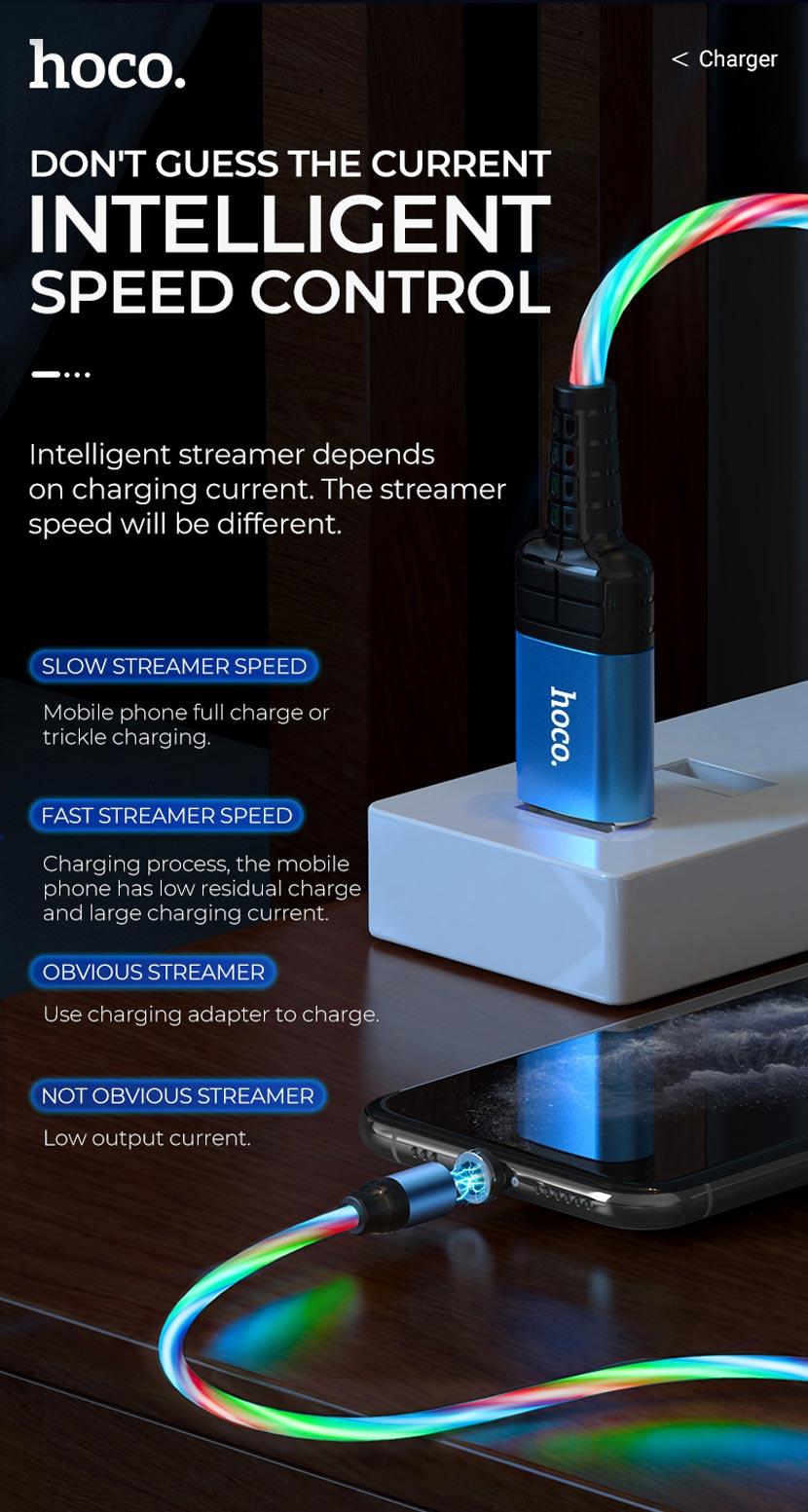 hoco news u90 ingenious streamer charging cable speed control en