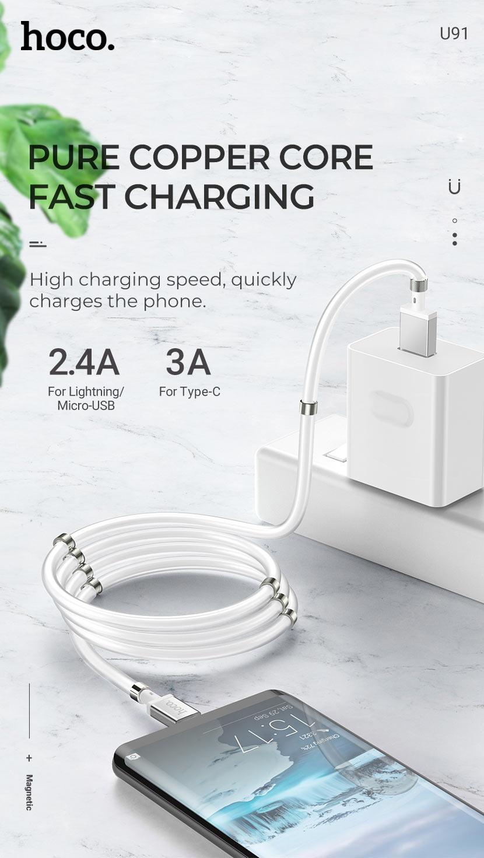 hoco news u91 magic magnetic charging cable copper en
