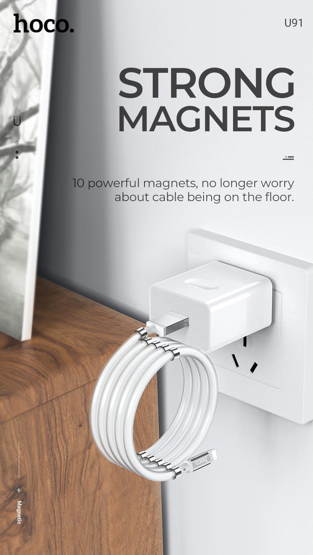 hoco news u91 magic magnetic charging cable magnets en