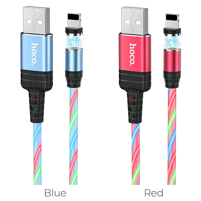 hoco u90 ingenious streamer charging cable for lightning colors