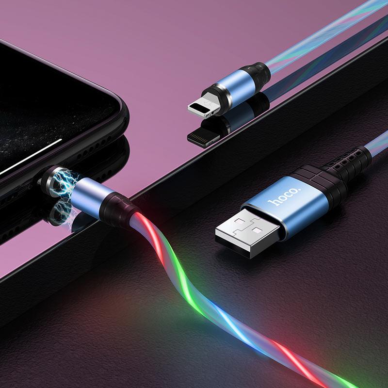 hoco u90 ingenious streamer charging cable for lightning interior