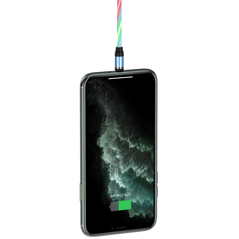 hoco u90 ingenious streamer charging cable for lightning strong