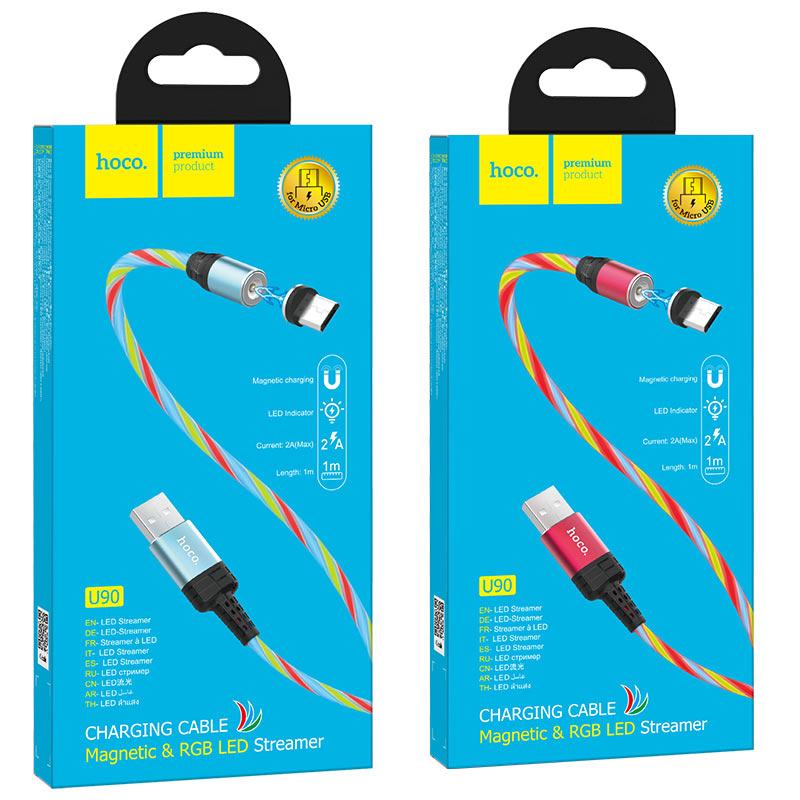 hoco u90 ingenious streamer кабель для зарядки для micro usb упаковка