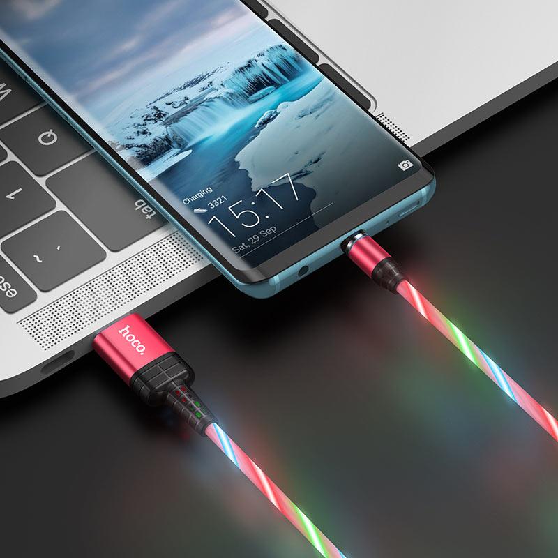 hoco u90 ingenious streamer кабель для зарядки для type c зарядка