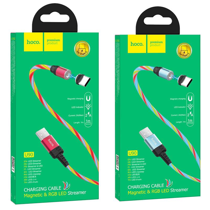 hoco u90 ingenious streamer кабель для зарядки для type c упаковка
