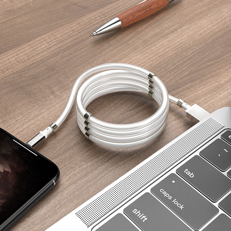 hoco u91 magic magnetic charging cable for lightning charge