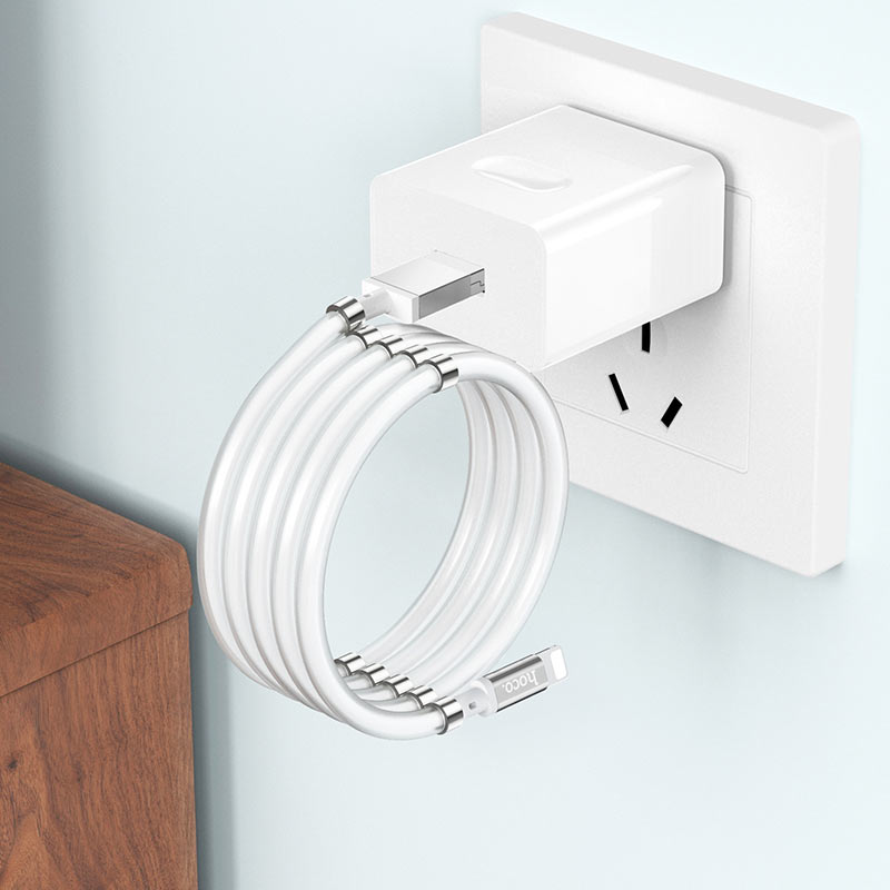 hoco u91 magic magnetic charging cable for lightning folded