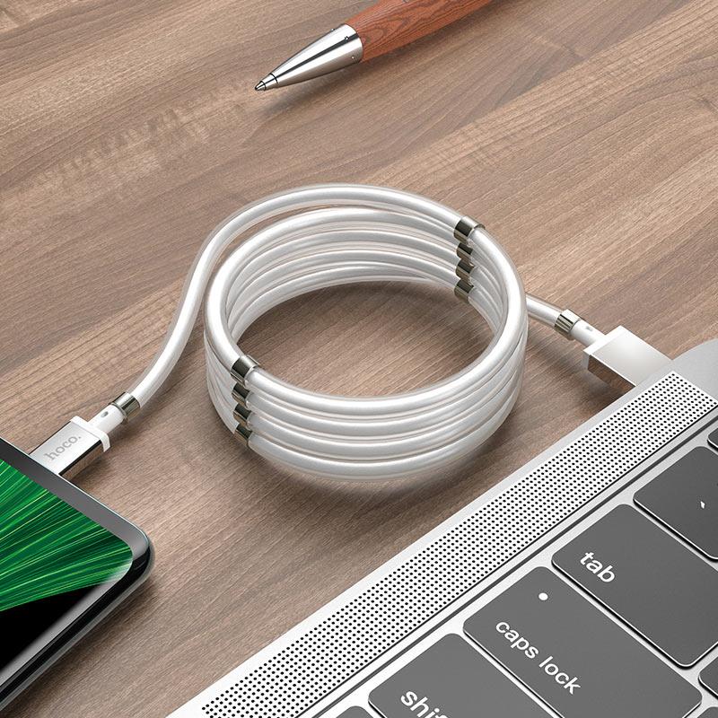 浩酷 u91 妙控磁吸收纳充电数据线 micro usb 充电