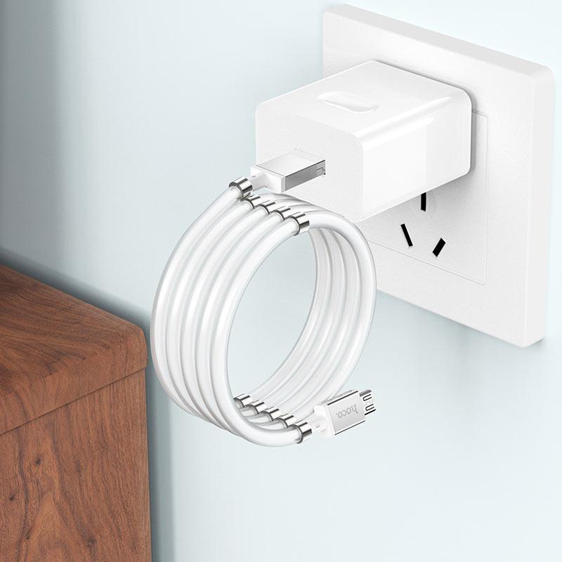 浩酷 u91 妙控磁吸收纳充电数据线 micro usb 折叠的