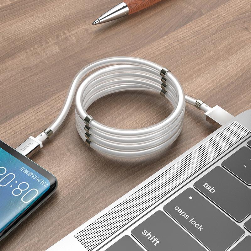 hoco u91 magic magnetic кабель для зарядки для type c заряд