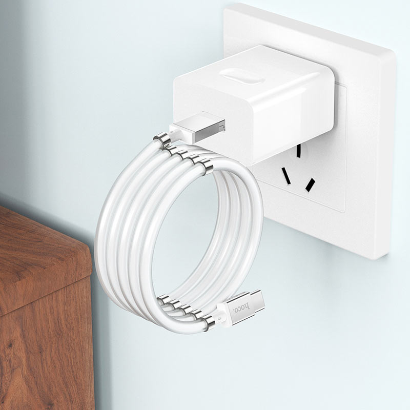 hoco u91 magic magnetic кабель для зарядки для type c сложенный