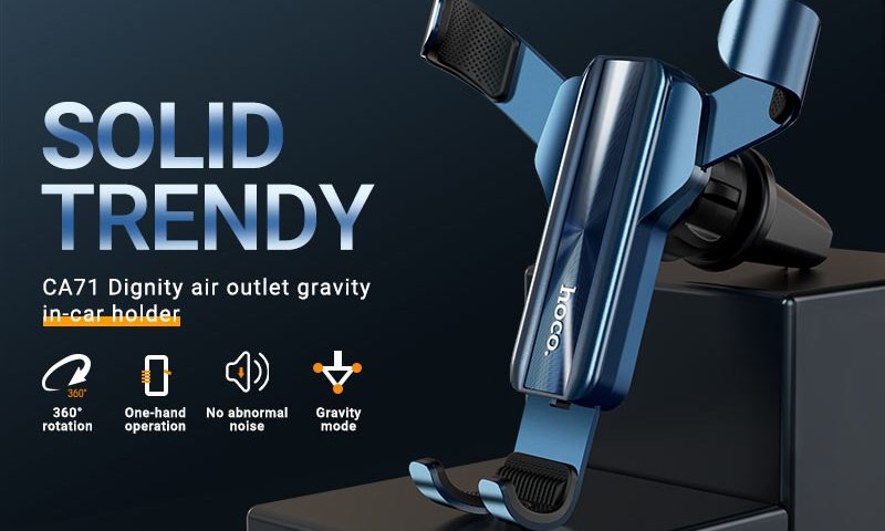 hoco ca71 dignity air outlet gravity in car holder banner en