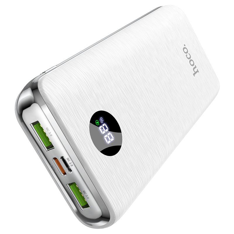 hoco j69a speed flash pd qc3 power bank 15000mah display