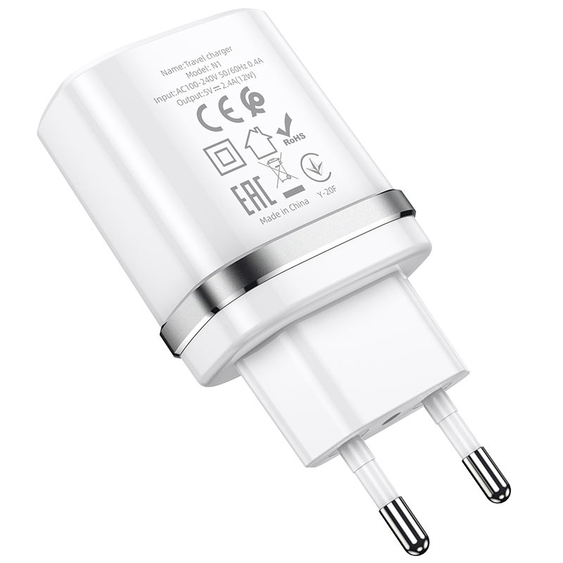 hoco n1 ardent single port wall charger eu certification