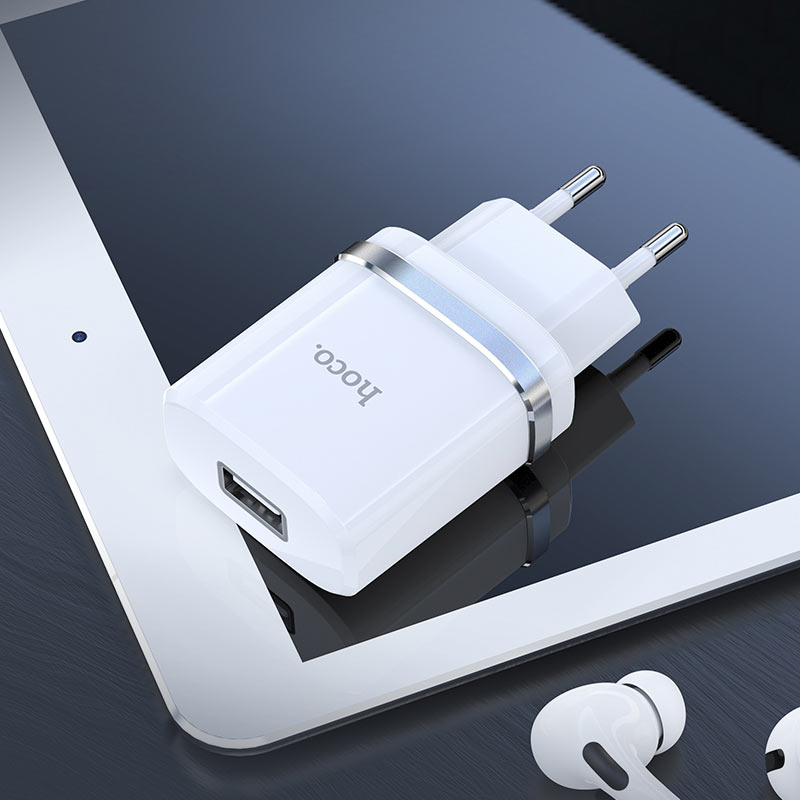 hoco n1 ardent single port wall charger eu interior white