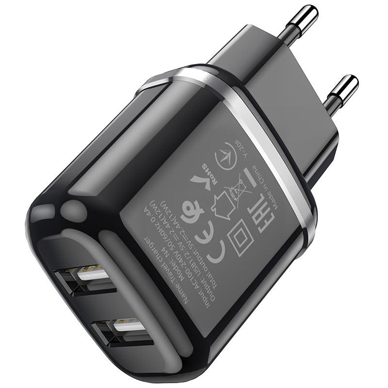 hoco n4 aspiring dual port wall charger eu certification