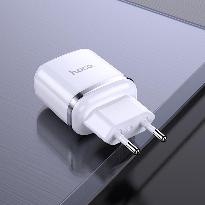 hoco n4 aspiring dual port wall charger eu interior white