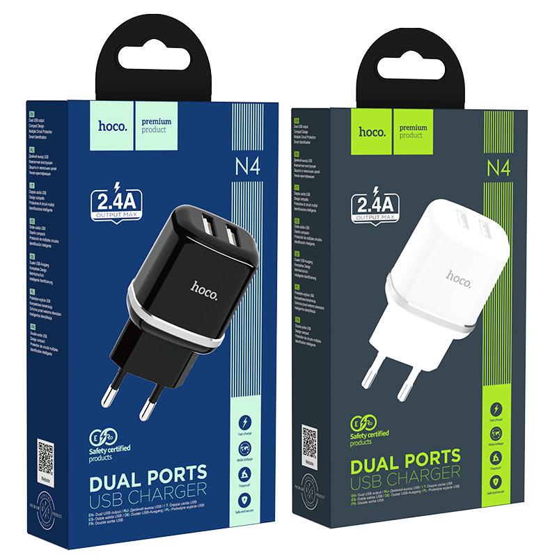 hoco n4 aspiring dual port wall charger eu packages