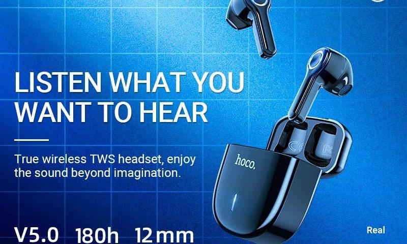 hoco news es45 harmony sound tws wireless headset banner en