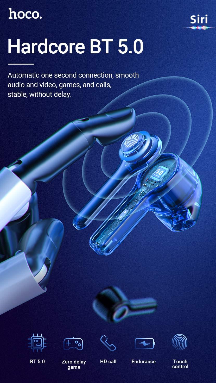 hoco news es45 harmony sound tws wireless headset bt en