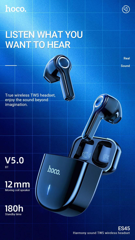 hoco news es45 harmony sound tws wireless headset en