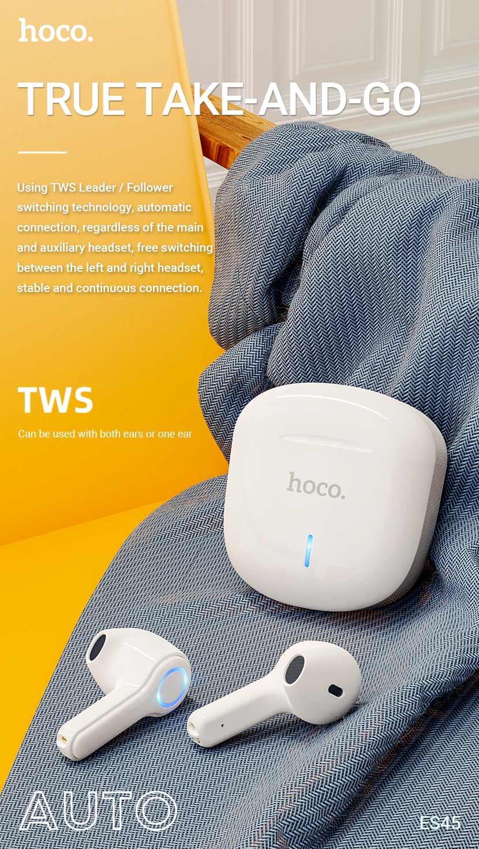 hoco news es45 harmony sound tws wireless headset switching en