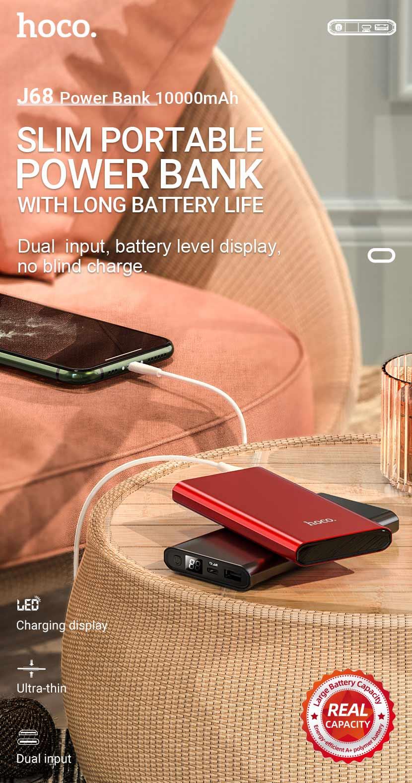 hoco news j68 resourceful digital display power bank 10000mah en