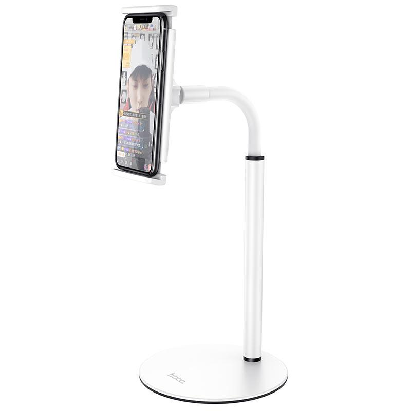 hoco ph30 soaring series metal desktop stand phone white