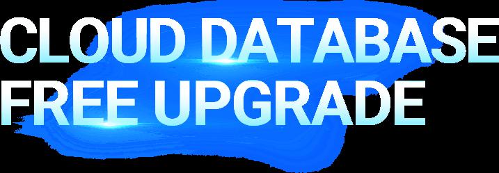 cloud database free upgrade title