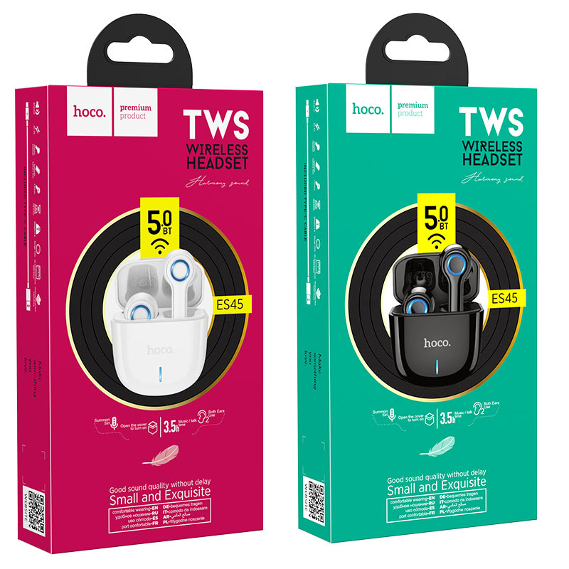 hoco es45 harmony sound tws wireless headset packages