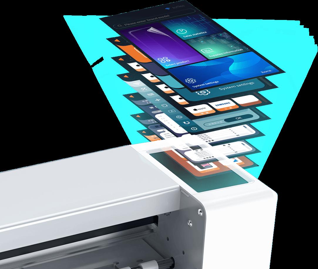 hoco intelligent film cutting machine smart system sensor touch en