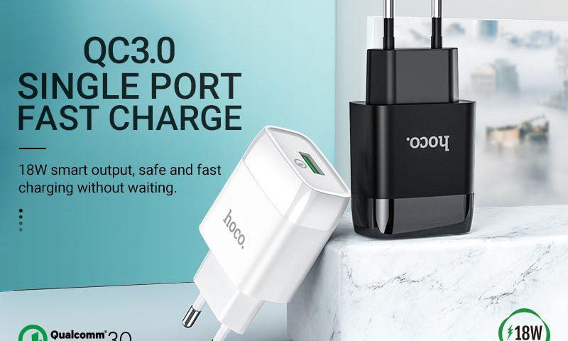 hoco news c72q glorious single port qc3 wall charger eu banner en