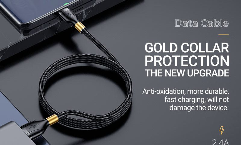 hoco news u92 gold collar charging data cable banner en
