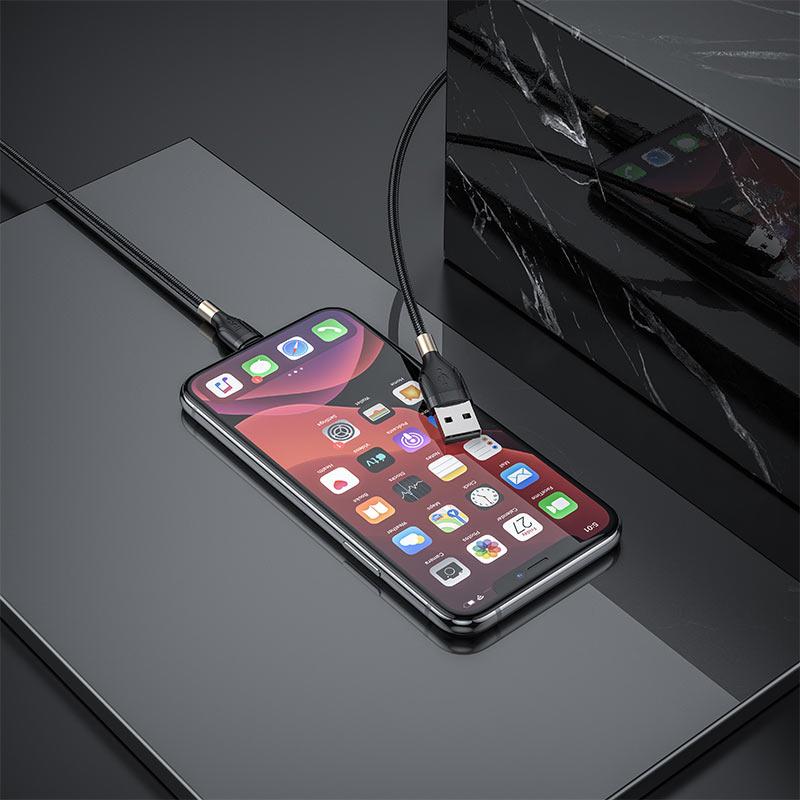 hoco-u92-gold-collar-зарядный-дата-кабель-для-lightning-зарядка