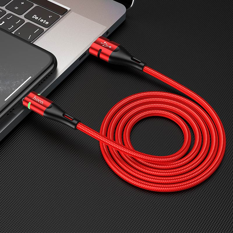 hoco u93 shadow charging data cable for lightning interior