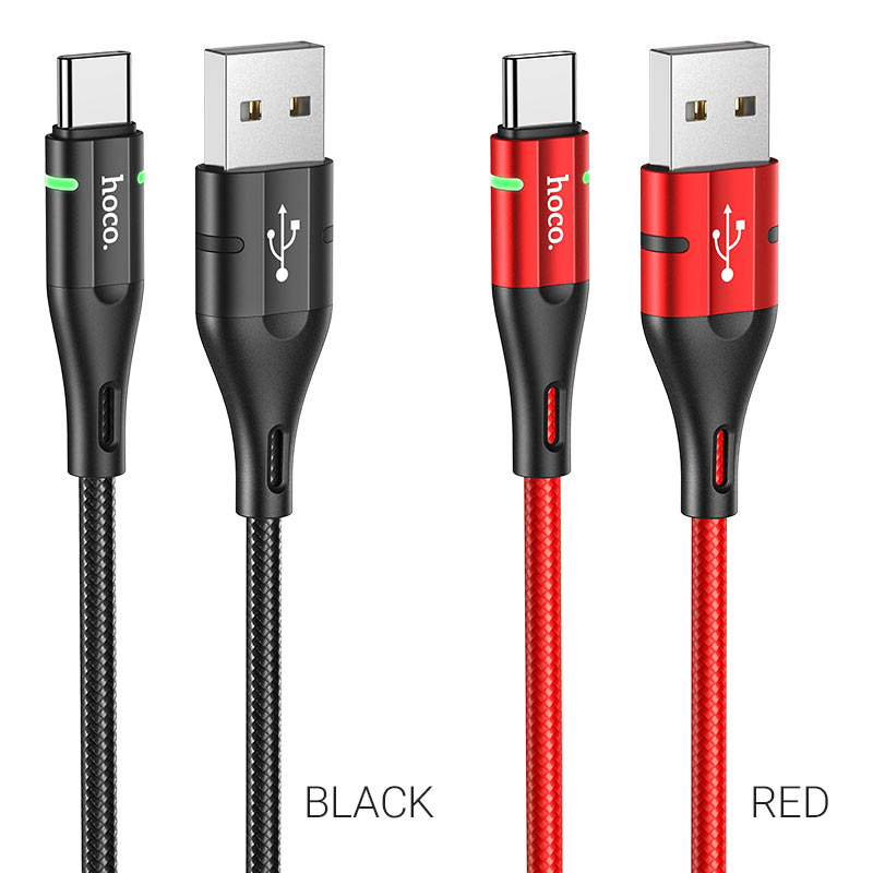 hoco u93 shadow charging data cable for type c colors