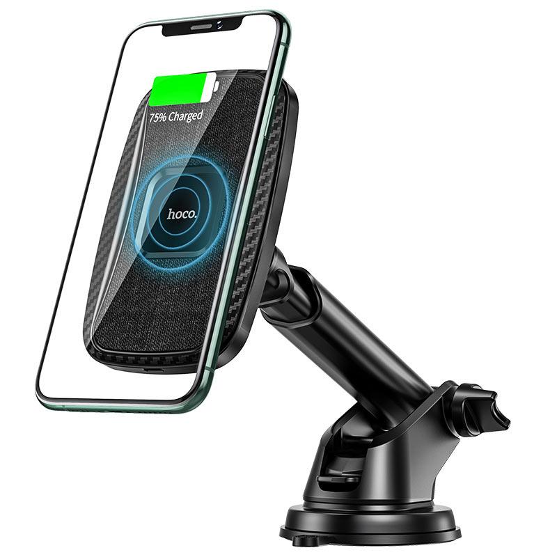 hoco-ca75-magnetic-держатель-авто-с-беспроводной-зарядкой-телефон