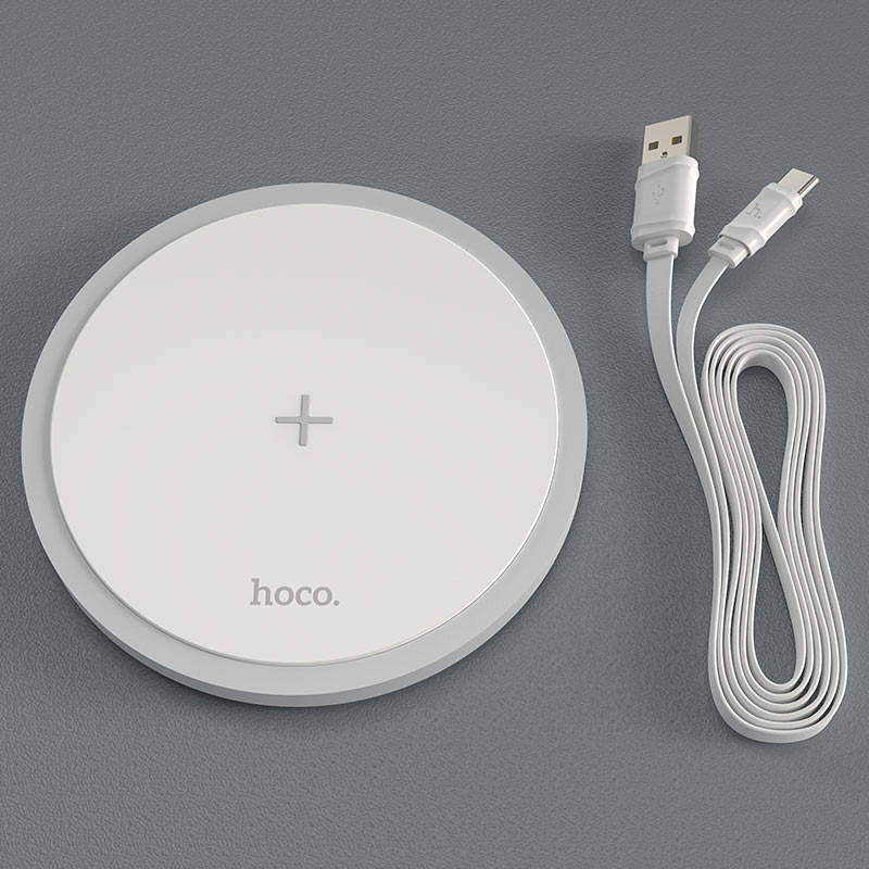 hoco cw26 powerful 15w wireless fast charger cable