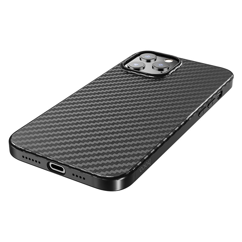 hoco delicate shadow series protective case for iphone12 pro max holes
