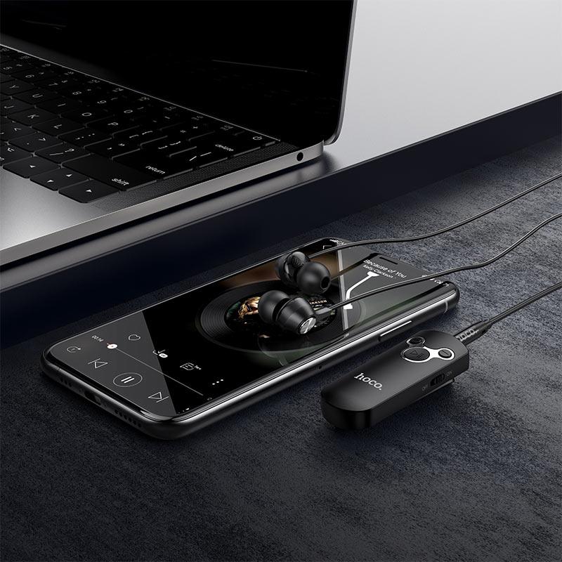 hoco e52 euphony wireless audio receiver earphone interior black