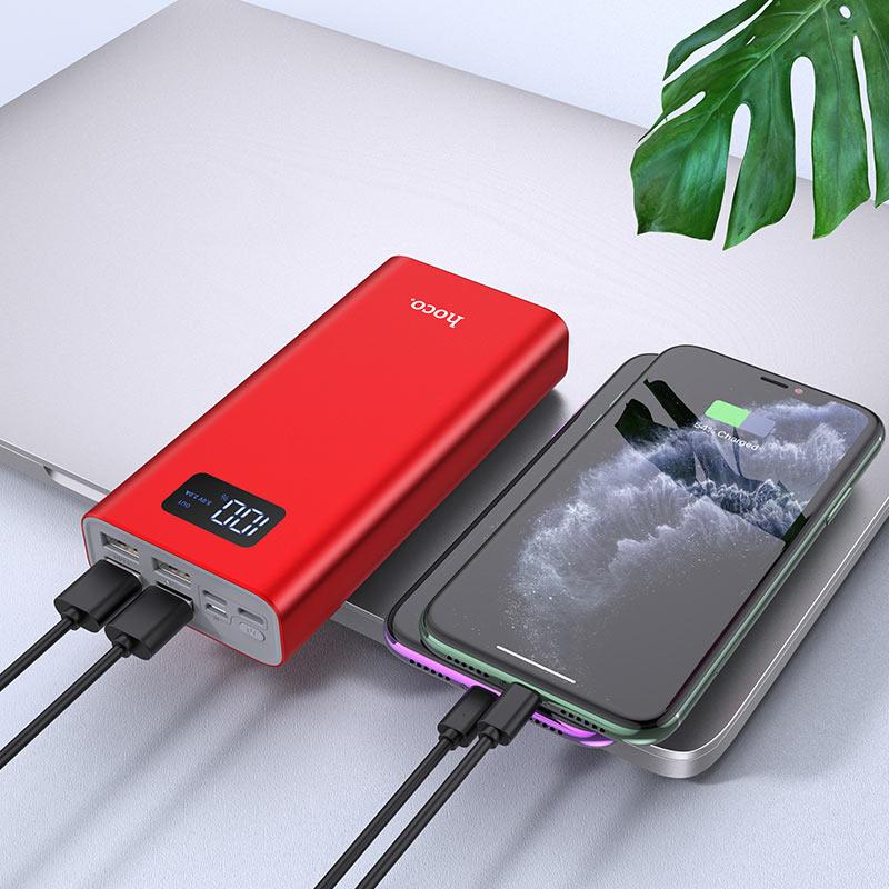 hoco j46a star ocean mobile power bank 20000mah charging red