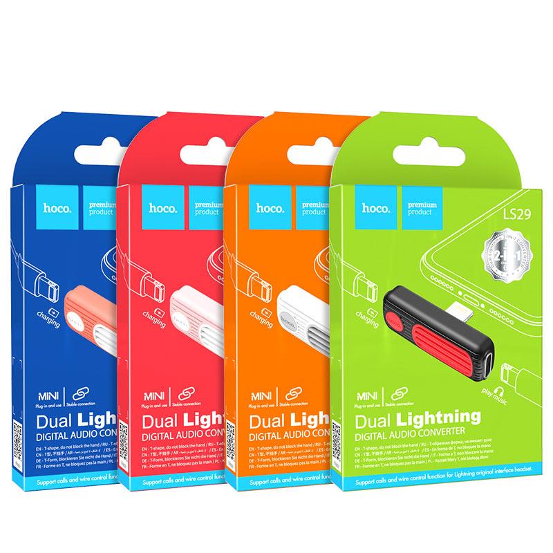 hoco-ls29-двойной-lightning-аудио-конвертер-упаковка